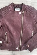 MAYORAL MAYORAL BROWN FAUX LEATHER JACKET