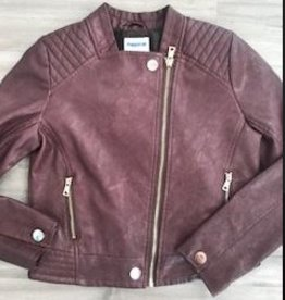 MAYORAL BROWN FAUX LEATHER JACKET