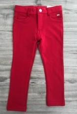 MAYORAL MAYORAL GIRLS RED FLEECE BASIC PANT