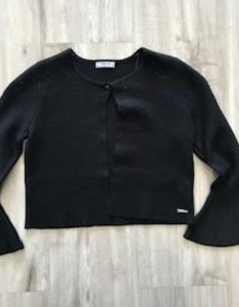 MAYORAL MAYORAL GIRLS BLACK KNIT CARDIGAN