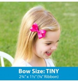 wee ones TINY GROSGRAIN BASIC BOW