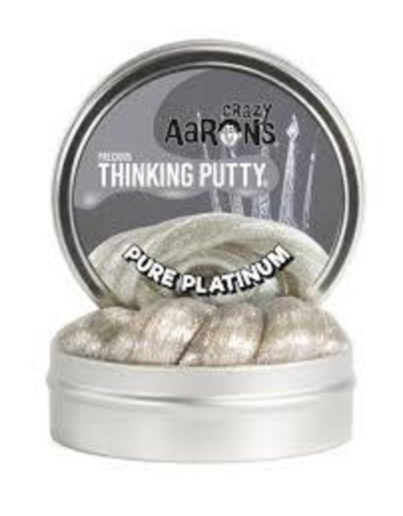 "Crazy Aaron Putty Crazy Aaron's Precious Thinking Putty - Pure Platinum 3"" Tin"