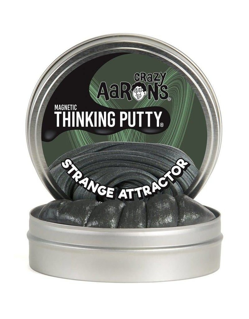 """Crazy Aaron Putty Crazy Aaron's Magnetic Thinking Putty - Strange Attractor 4"""" Tin"""