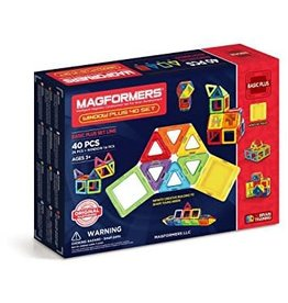 magformers Magformers Magnetic Contruction Set,Windows Plus 40 set