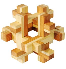 Fridolin IQ- Test Bamboo Puzzle - Construction