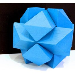 Fridolin IQ-Test Bamboo Puzzle - Blue Knot