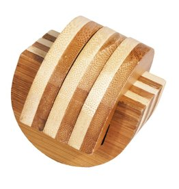 Fridolin IQ-Test Bamboo Puzzle - Clamps