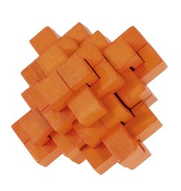 Fridolin IQ-Test Bamboo Puzzle - Orange