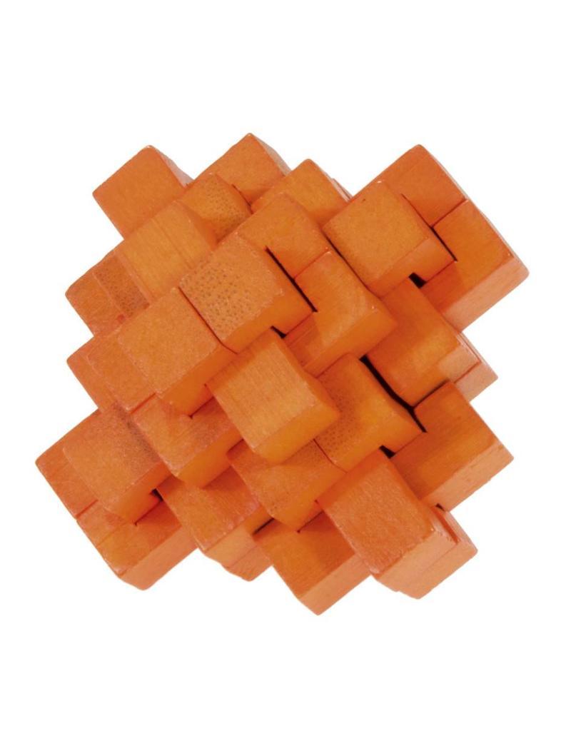 Fridolin IQ-Test Bamboo Puzzle - Orange