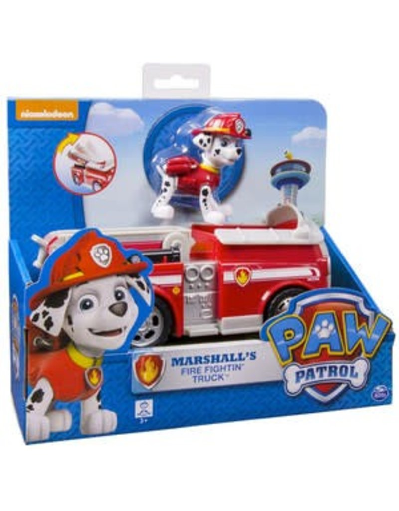 spin master paw patrol marshall s fire fighting truck pow