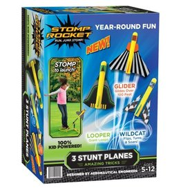 D&L Company LLC Stomp Rocket 3 Stunt Planes