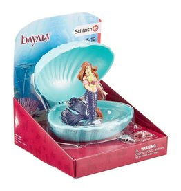 Schleich Mermaid with Baby Seahorse in Shell