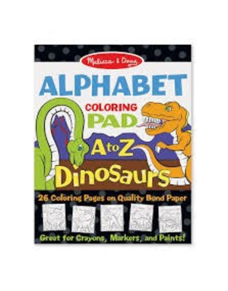 Melissa & Doug Dinosaurs Alphabet Coloring Pads