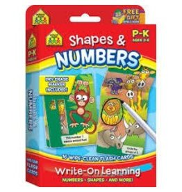 School Zone Shapes & Numbers Interactive Flash Cards