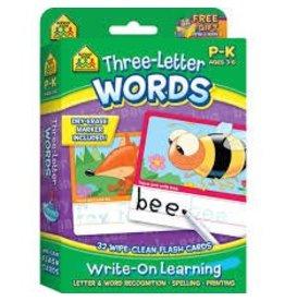 School Zone Three Letter Words-Pre-K