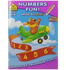 School Zone Write & Reuse Workbook-Math Fun