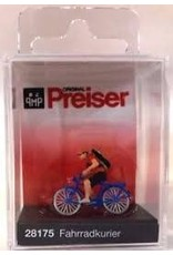 Preiser HO Scale Bicycle Courier (With Bicycle)