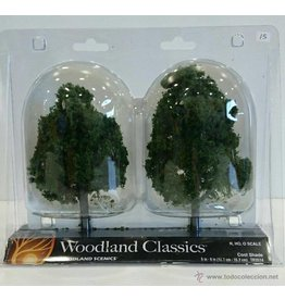 "Woodland Scenics Woodland Classic Trees(R) Ready Made - Cool Shade -- 5 to 6""  12.7 to 15.2cm Tall pkg(2)"