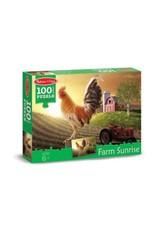 Melissa & Doug 100 Pc. Sunrise Farm Cardboard Jigsaw