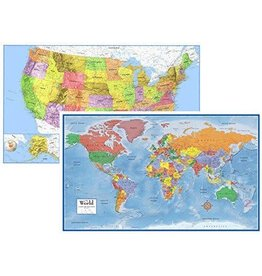 Round world World & United States Map