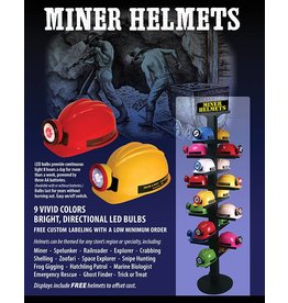 Squire Boone Village MINER HELMET, RED WITHWHITE LED BULB