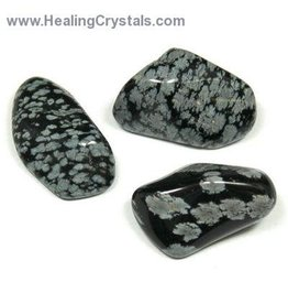 Squire Boone Village SNOWFLAKE OBSIDIAN, TUMBLED