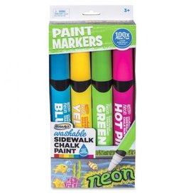 Mattel Washable Sidewalk Chalk Paint 4 Pack Neon Colors