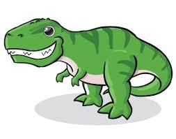 A green Tyrannosaurus Rex.