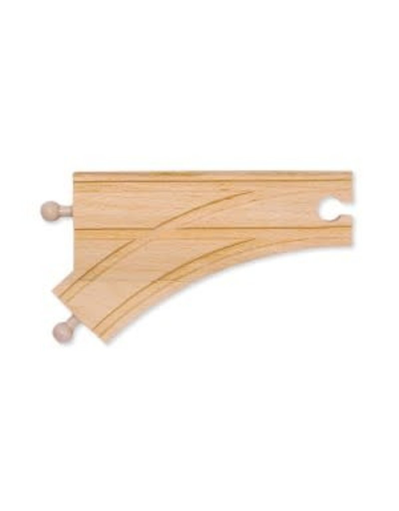 """Melissa & Doug 6"""" Curved Switch Track - male"""