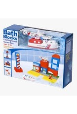 Just Think Toys Bath Blocks Floating Coast Guard Set