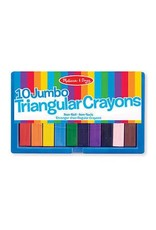 Melissa & Doug Jumbo Triangular Crayons (10 pc)