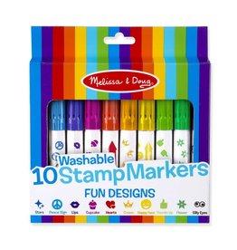 Melissa & Doug 10 Stamp Markers - Fun Designs
