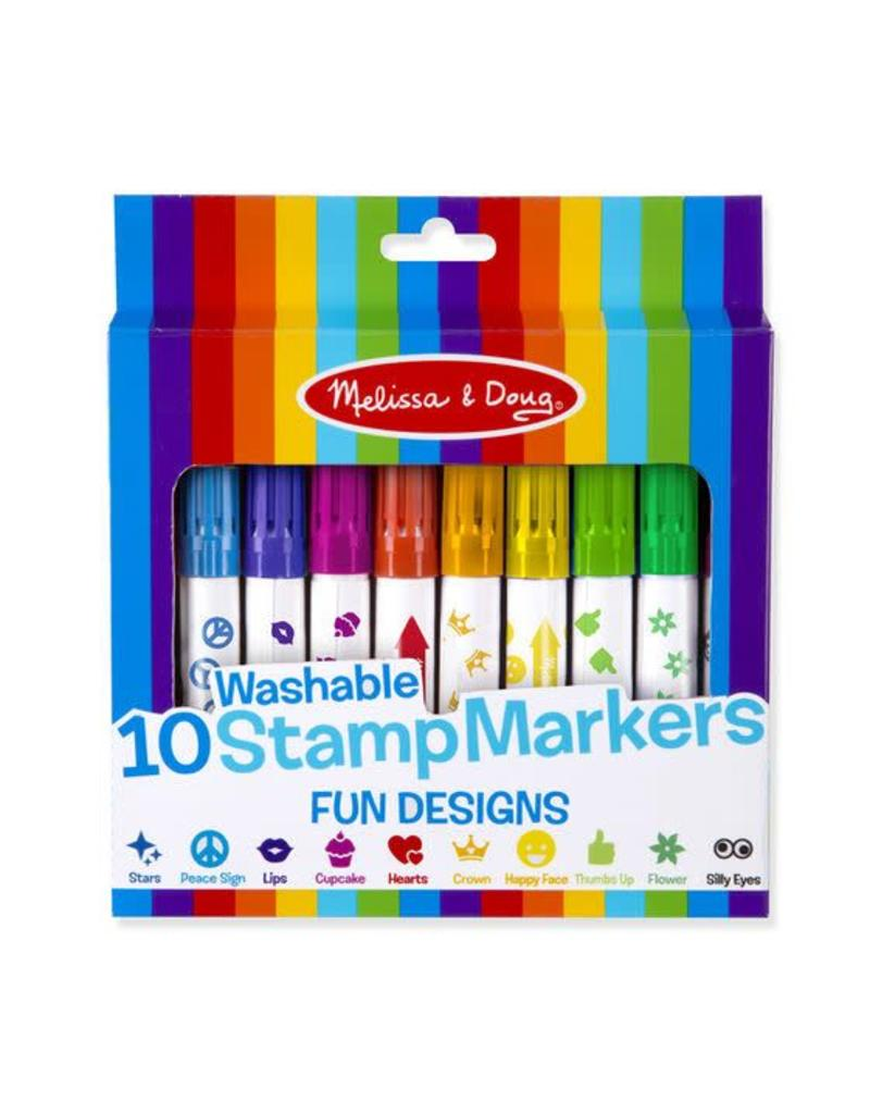 Melissa & Doug 10 Stamp Markers - Fun Designs
