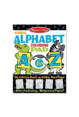 Melissa & Doug Alphabet Coloring Pad - A to Z Animals