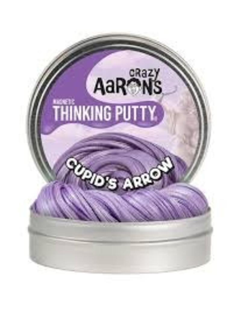 "Crazy Aaron Putty Crazy Aarons Thinking Putty - Super Magnetic Cupid's Arrow Super Magnetic (4"" Tin Plus Magnet)"