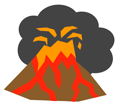 A volcano blowing up.