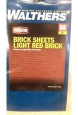 "Walthers Brick Sheet - 4 x 9-3/4""  10.1 x 24.7cm pkg(4) -- Light Red"