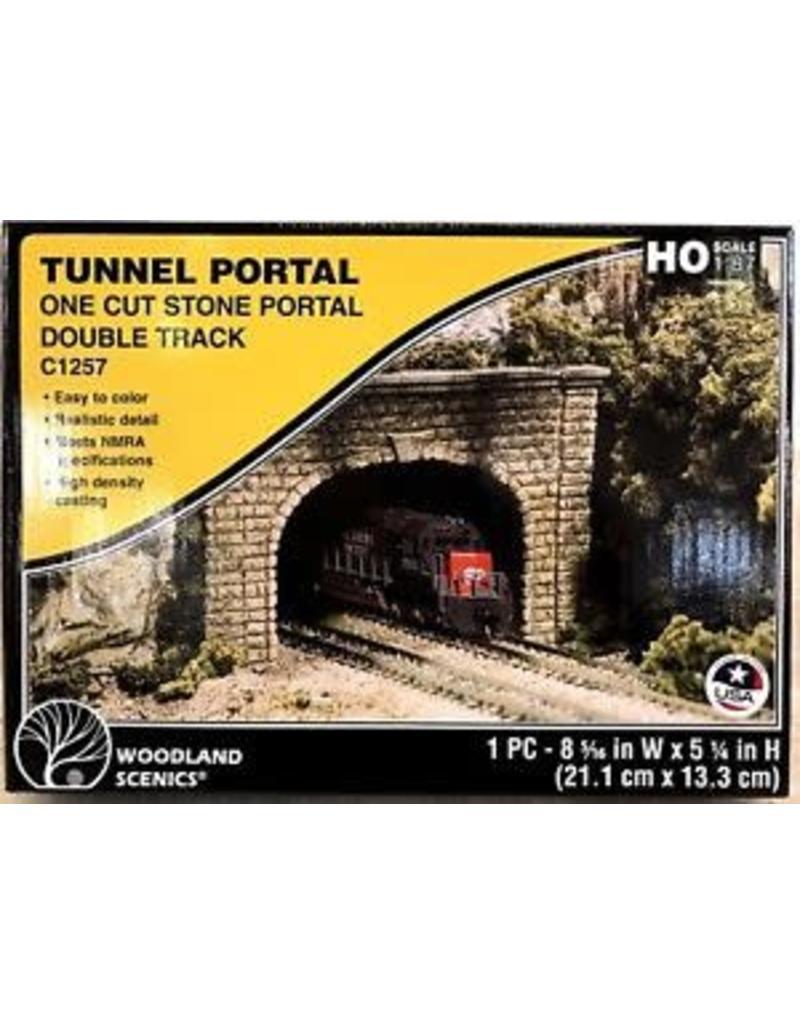 Woodland Scenics HO Double Tunnel Portal, Cut Stone
