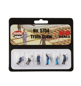 MODEL POWER 5704 TRAIN CREW 6 Figure Set