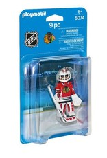 Plamobil Playmobil NHL Chicago Blackhawks Goalie 5074