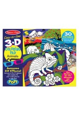 Melissa & Doug 3D Animal Marker Coloring Pad