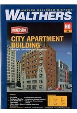 "Walthers City Apartment Building -- Kit - 8-1/8 x 5-3/16 x 12-11/16""  20.6 x 13.2 x 32.2cm"