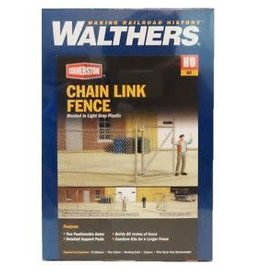 "Walthers Chain Link Fence -- Kit - Approximately 80""  203cm, Up to 2 Gates"