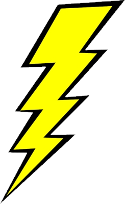 A lightening bolt.