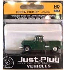 Woodland Scenics HO Scale Green Pickup Truck