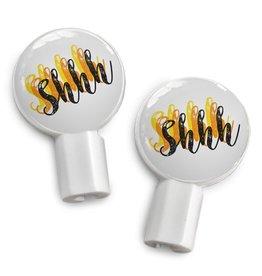 Deka Slides sharpei + shhh earbuds
