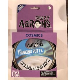 "Crazy Aaron Putty Northern Lights Cosmic Glow 4"" Tin plus Glow Charger"