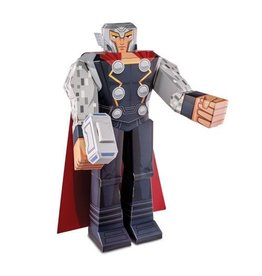 MARVEL MARVEL AVENGERS MIGHTY THOR PAPER CRAFT DIE CUT 12 INCH POSEABLE FIGURE