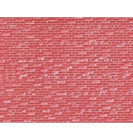 "John Randall HO Scale Red Brick Wall Sheets Set of Three 7-1/2 x 10-1/2"""