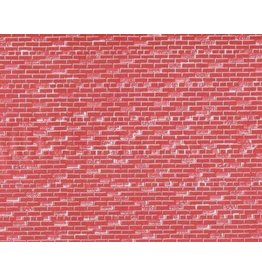 """John Randall O SCALE RED BRICK WALL SHEETS Set of Three 7-1/2 x 10-1/2"""""""